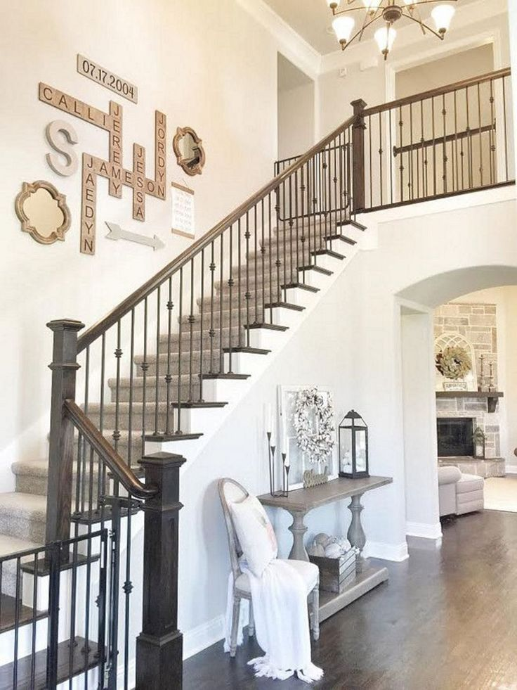 65 Awesome Arranging Pictures On A Stair Wall Ideas Freshouz Com In 2020 Decorating Stairway Walls Staircase Wall Decor Stairway Decorating