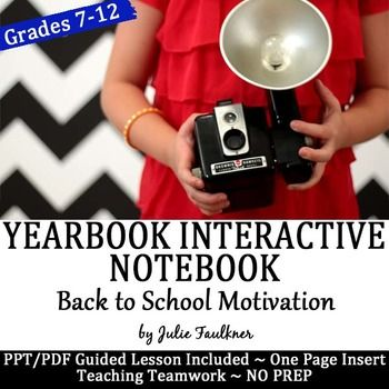 Yearbook Interactive Notebook Insert for Back to School Mo