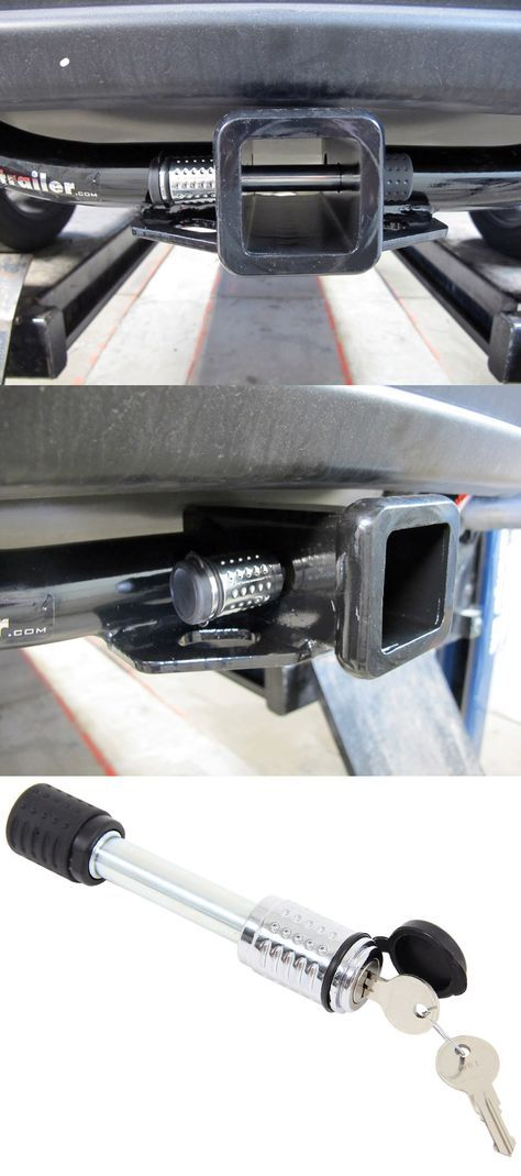 Trailer Hitch Receiver Lock - chrome, flush design that will prevent theft. An awesome accessory or gift idea for Dad on Father's Day, the guy who loves his truck and loves to tow!