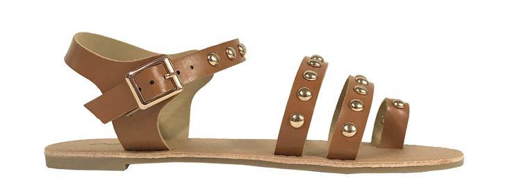 ATHENA-1324! Women's Studded Strappy Gladiator Sandals