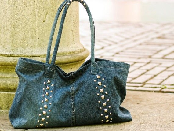 another recycled denim bag!