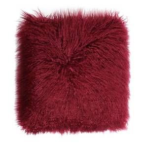 Adding a chic accent to your space is as easy as tossing this Maroon Faux Fur Pillow from Room Essentials™ on your couch. The soft, faux fur throw pillow will tie any room together instantly. Try mixing and matching other accent pillows together to create a look that suits your unique style.