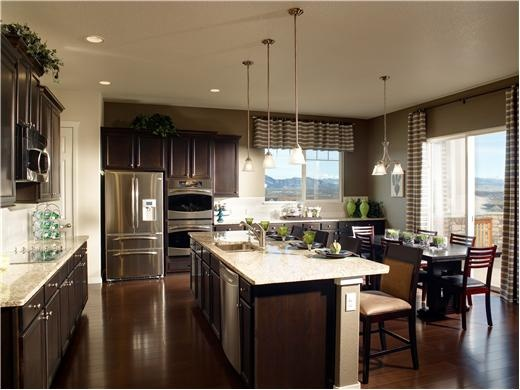 Kitchen with Island by Taylor Morrison Homes in Denver, Colorado