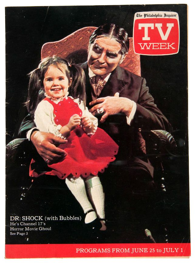 TV Guide 1972 with local horror host Dr. Shock and his ...