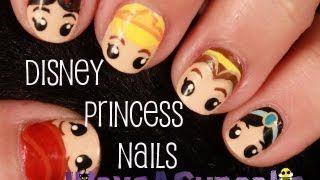 Video+Tutorial+On+Doing+Disney+Princess+Nail+Art