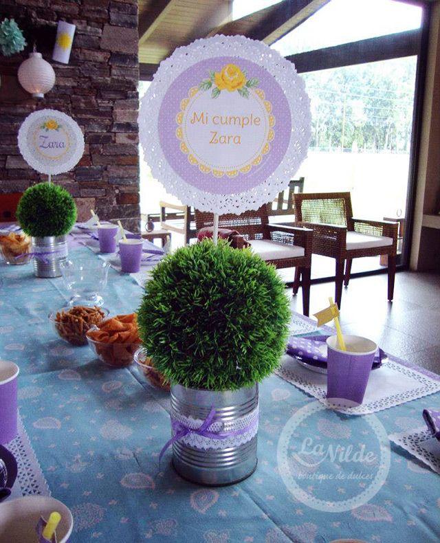 Birthday Table Acnl: Mesa De Cumpleaños Rapunzel