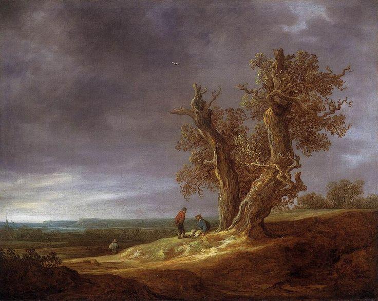 Jan van Goyen - Landschap met twee eiken