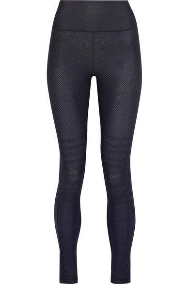 Adidas by Stella McCartney - Printed Climalite Stretch Leggings - Black -
