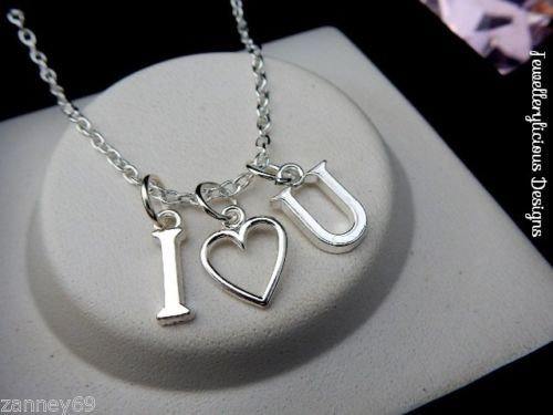 Beautiful-Silver-I-Love-You-Love-Heart-Necklace-You-Choose-Length-Gift-Valentine