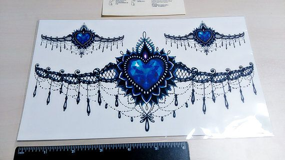 grote tijdelijke tatouage grote kant/borst lace door prosciuttojojo