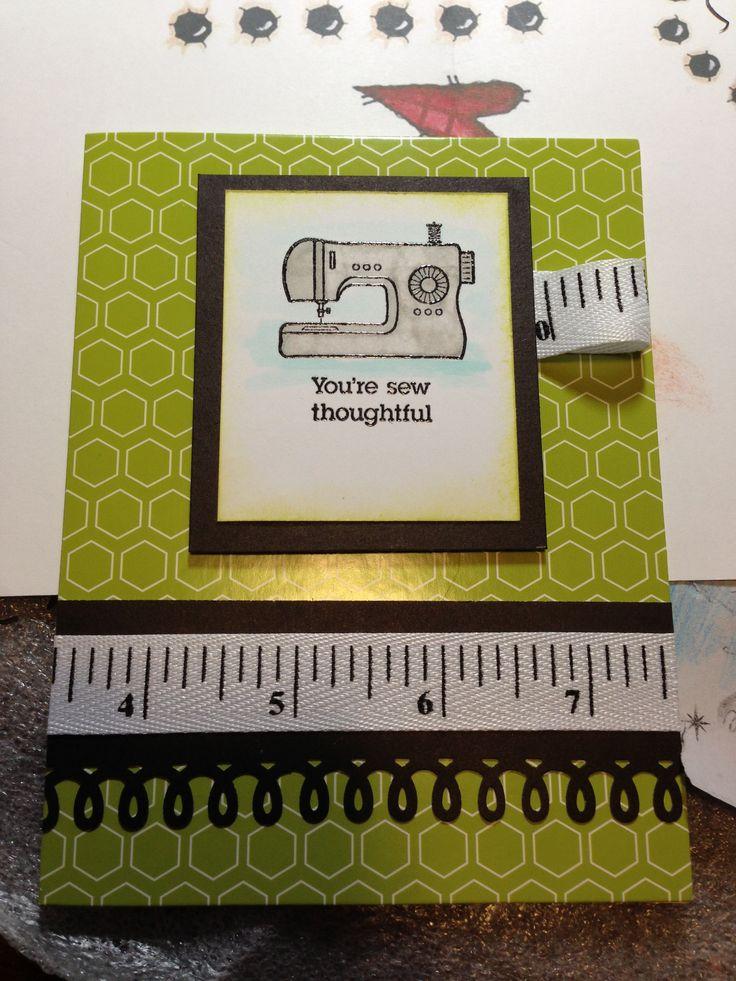 Sewing pun card