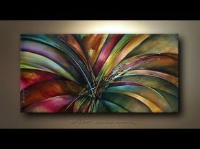 Start to finish video of abstract painting 'Lilys Song'. See more at www.MLangart.com or facebook, MLangart