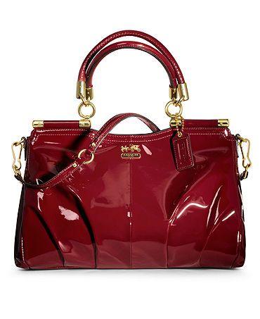 COACH MADISON PATENT LINDSEY SATCHEL - Coach Handbags - Handbags & Accessories - Macy'