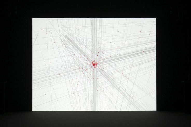 Ryoji Ikeda, 'datamatics [ver.2.0]', 2010, audiovisual installation, FIAF, New York. © Ryuichi Maruo. Image courtesy FIAF.