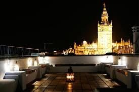 """Arab bath in Seville - After a great relaxing afternoon enjoy a glass of champagne on the beautiful terrasse of  """"Aire de Sevilla"""""""