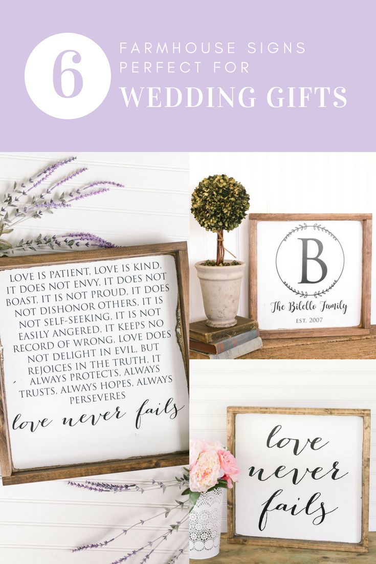 db2e2b5f7b43 Some of the best wedding gifts for couples who love the farmhouse style!  Joanna Gaines would definitely approve of these!!!