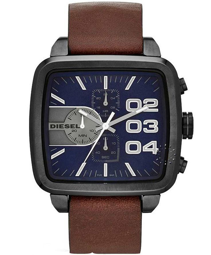 DIESEL Square Franchise Chrono Brown Leather Strap Η τιμή μας: 225€ http://www.oroloi.gr/product_info.php?products_id=35326