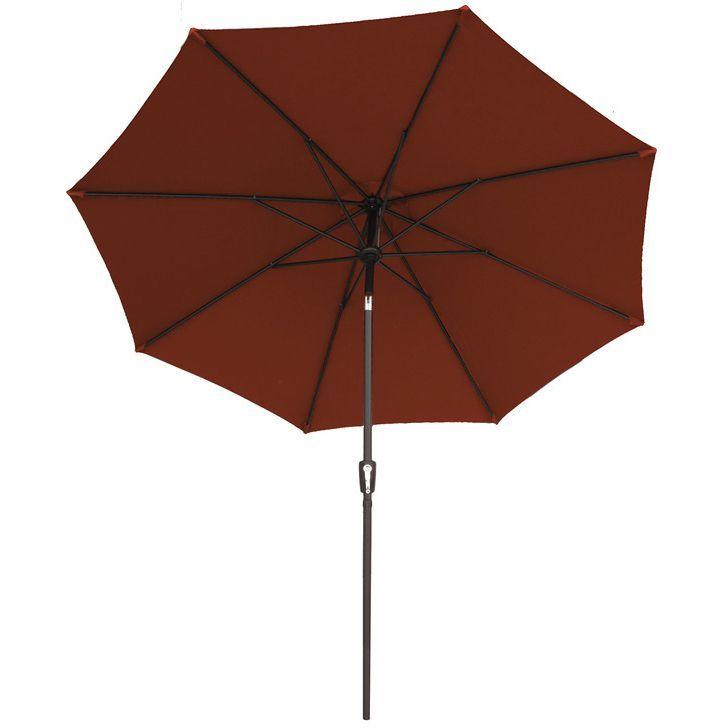 9-foot Traditional Market Sunbrella Umbrella (Henna), Red (Polyester)
