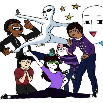 The Animation Squad #Theodd1sout #jaidenanimation #cypherden #domics #tonyvtoons #blacksen #itsalexclark