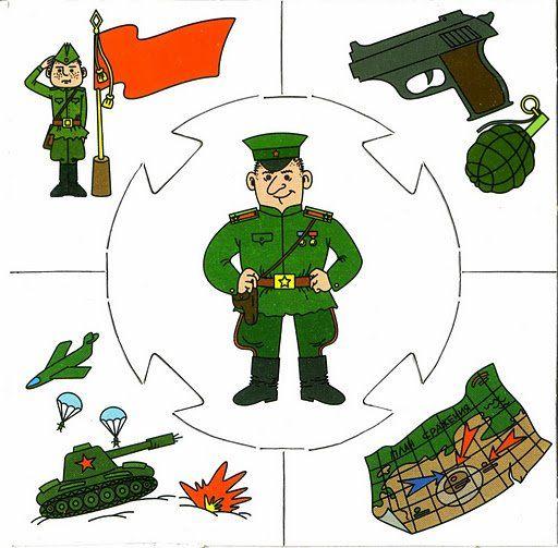 Militar Puzzle profesiones