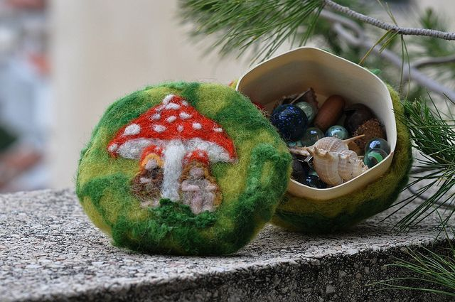 Needle Felted Wool treasury box - The forest children-Elsa Beskow and Waldorf Inspired by daria.lvovsky, via Flickr