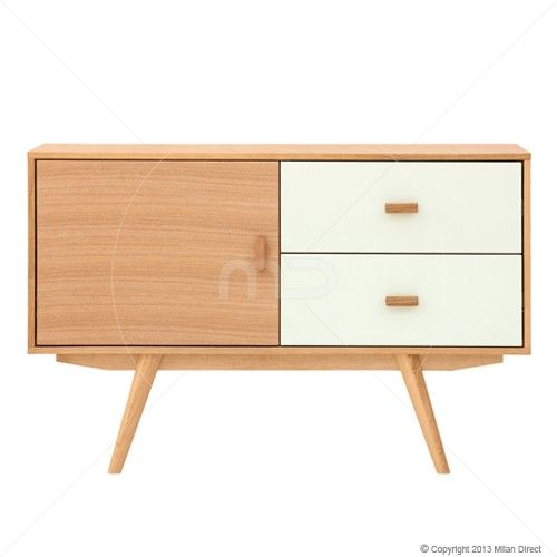Sofia Sideboard - Scandinavian Furniture - Ash & White - Milan Direct