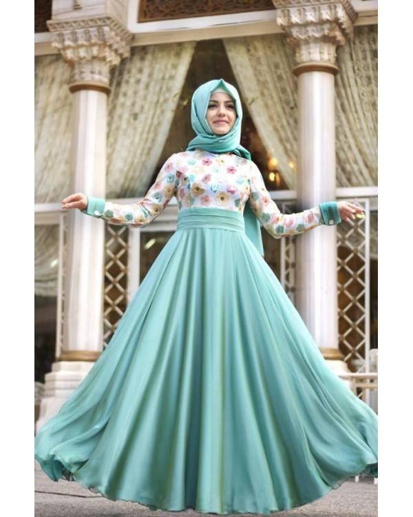 #Turquoise #Hijabi #hijab #Maxi #dress