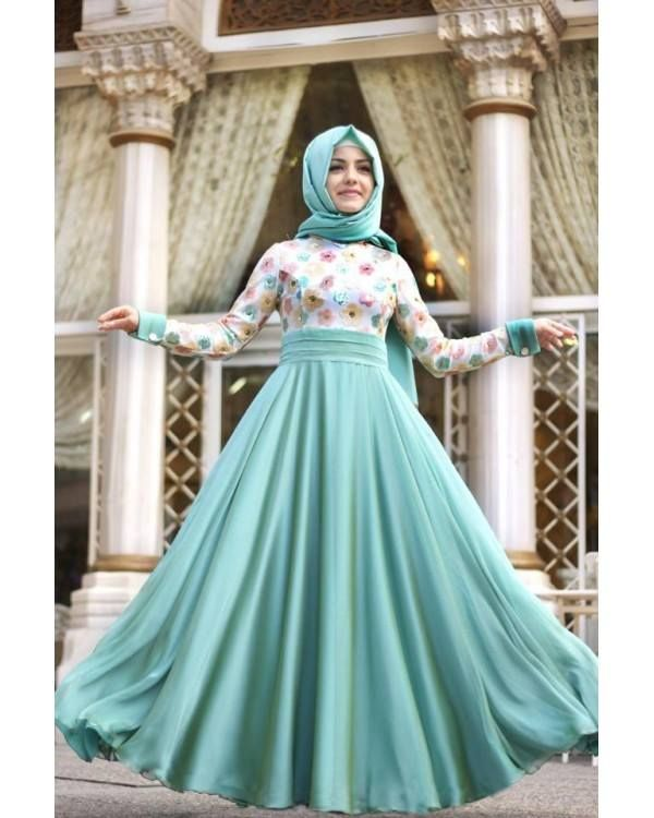 #Turquoise #Hijabi #hijab #Maxi #dress