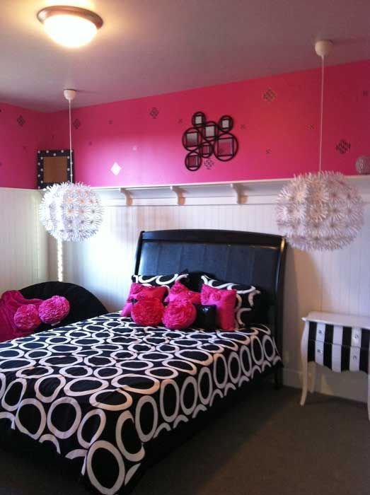 Cool bedrooms for teens girls black and white sleek and - Cool things to buy for your room ...