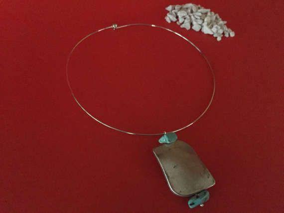 Collana donna girocollo rigido in metallo argentato di TRIVIBIJOUX