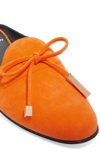 Pierre Hardy - Mademoiselle Jacno Suede Slippers - Bright orange - FR37.5
