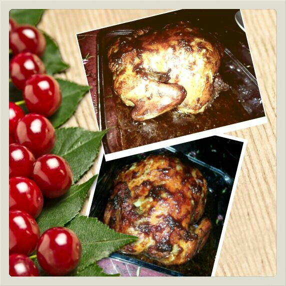 Roasted chicken with soy sauce