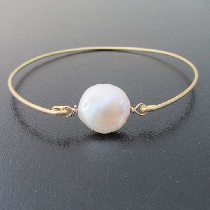 Mother of the Bride Jewelry, Freshwater Coin Pearl Bracelet, Mother of the Bride Bracelet, Mother of the Bride Gift, Bridal, Wedding Jewelry. $24.95, via Etsy.