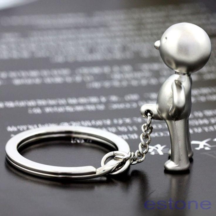 Mr.P Boy Keychain Cute Creative Key Chain Ring Key Fob Home Car Key Holder New #Trendy