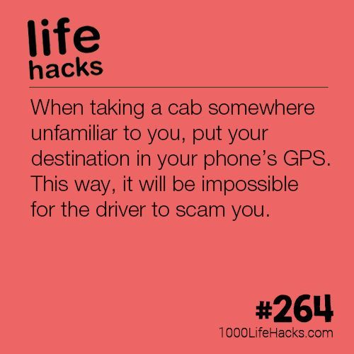 The post Never Get Scammed By a Cab Driver Again appeared first on 1000 Life Hacks.