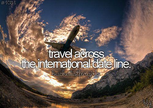 travel across the international date line #bucketlist