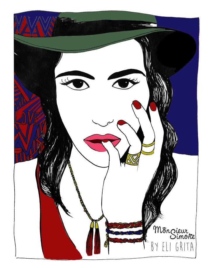 #FASHION #JEWELLERY #MONSIEURSIMONE #ELIGRITA #ILLUSTRATION #ART #WOMAN