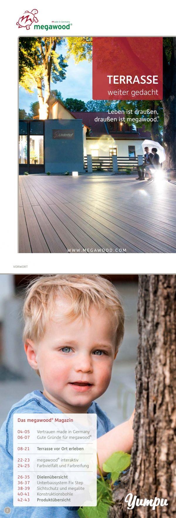Das Terrassensystem von Megawood - Magazine with 44 pages: In diesem Magazin erfahren Sie alles über die Produkte von Megawood. Ebenso lernen Sie die vielen Vorteile von WPC kennen.