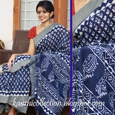 This saree has gained its inspiration from the process involved in this wonderful creation. It has been dyed and dried on village soil for weeks.