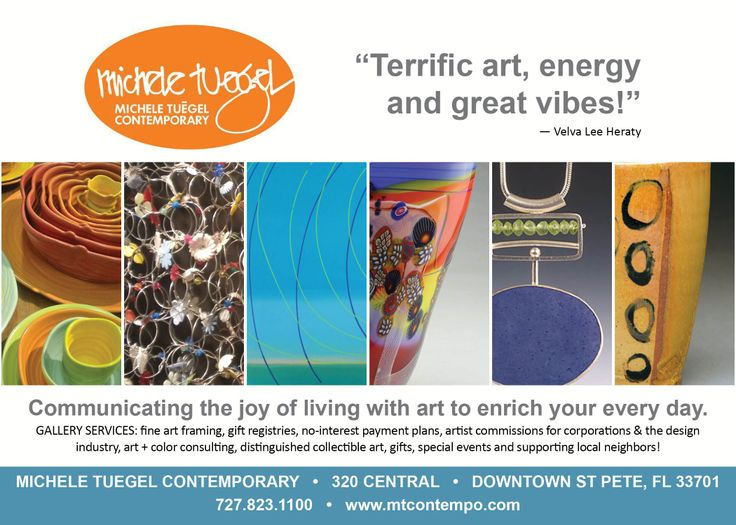 Thanks to our advertisers, including Michele Tuegel Contemporary Gallery.  LocalShops1.com's Live Local! magazine will be unveiled at 7:05 pm Thu, June 12.  Admission is free, but registration is requested: http://www.localshops1.com/events/event_details.asp?id=421180&group