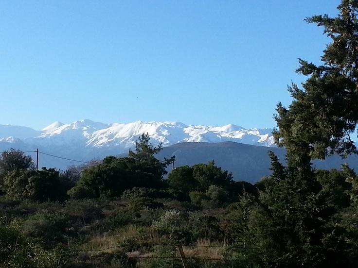 view to Madares, Leuka ori, outside Chania, at Akrotiri