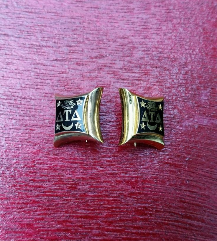 Vintage Black and Gold  DELTA TAU DELTA fraternity initiation badge pin 1949 #vintage #fraternitybadge #fraternitypin #deltataudelta #platinumrooster #collectible
