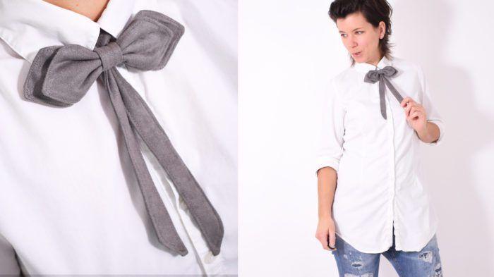 FESTTAGSfliege • Schleife • kostenlos Schnittnuster + Nähanleitung •Damen • leni pepunkt • freebie • free sewing pattern • bow tie • ladies