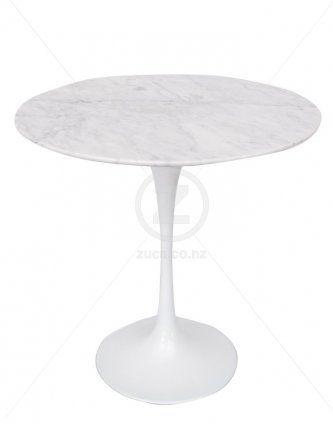 Replica Eero Saarinen Tulip Side Table – White Marble