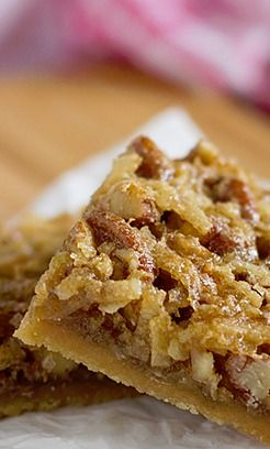 Coconut Pecan Bars - Holy Scrumptiousness, Batman, it's like somebody took german choc cake icing and made it respectable to eat in public!!!