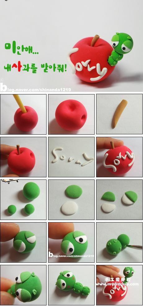 韩国的超轻粘土制作,Clay Crafts, Fimo, Sculpey , Modelling , Polymer Crafts with Sculpting clay , Free Kids Activities , Clay Projects, Templates and Ideas , Cute, Adorable , Kawaii, Critters and Creatures