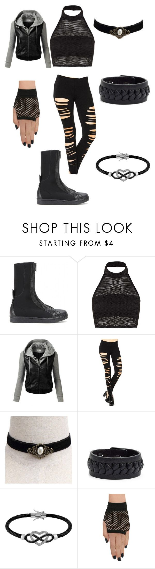 """""""Naruto OC, Ninja outfit (Hōseki)"""" by creativekeys ❤ liked on Polyvore featuring Y-3, Boohoo, J.TOMSON, Frye, Jewel Exclusive and Hot Topic"""