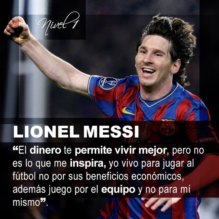 Messi, Lionel Messi and Frases on Pinterest