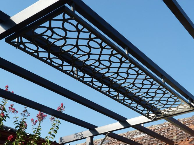 Steel Pergola Laser Cut Patio Pergola By Gardens Of Steel