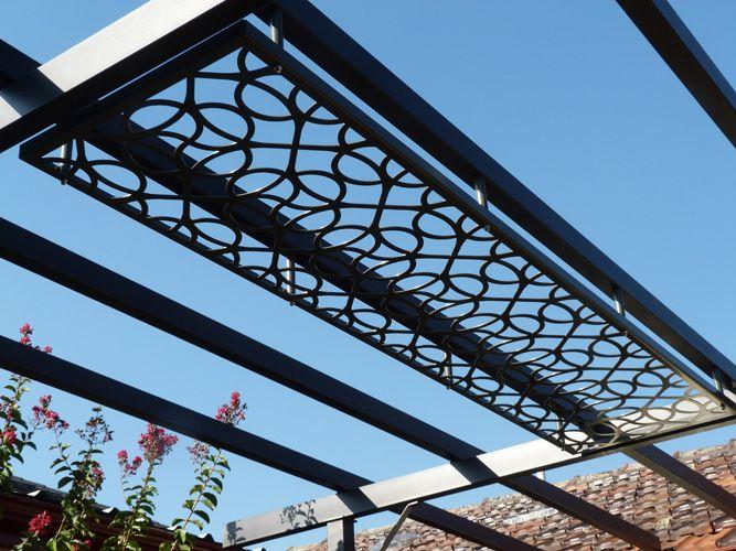 Steel Pergola Laser Cut Patio Pergola By Gardens Of Steel